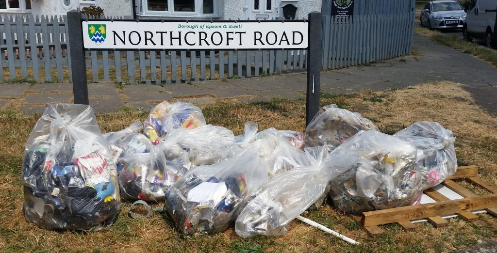 a Photo of collected litter